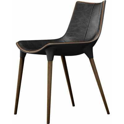 Modloft Black Langham Upholstered Dining Chair Upholstery Color: Aged Onyx - Perigold