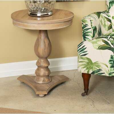 Dollison Pedestal End Table with Storage - Wayfair