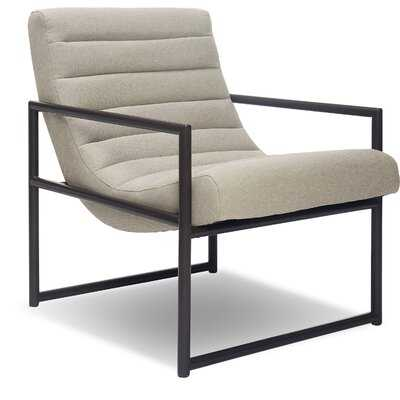 "Dawson 27.5"" W Tufted Linen Armchair - Wayfair"