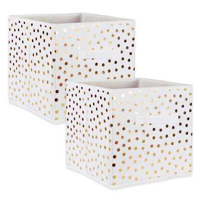 Small Dots Nonwoven 2 Piece Fabric Cube Set - Wayfair