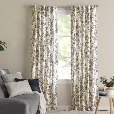 Sam Floral Room Darkening Thermal Rod Pocket Single Curtain Panel - Birch Lane