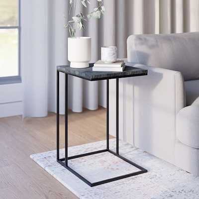 Streamline C Side Table Black Marble/Antique Bronze - West Elm