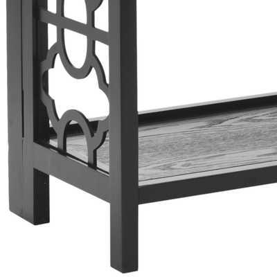 Natalie 3 Tier Low Bookcase - Black - Arlo Home - Arlo Home