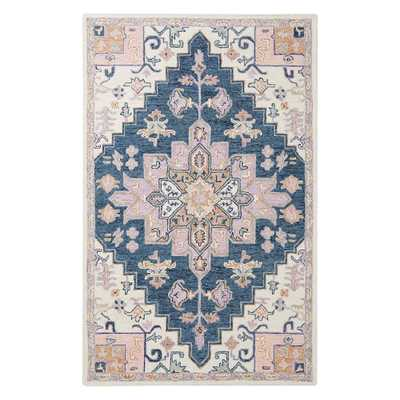 Alexandra Recycled Wool Rug, 7x10, Cool Multi - Pottery Barn Teen