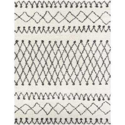 Armand Geometric Gray Area Rug - Wayfair