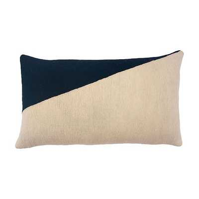 Marianne Triangle Pillow Hand, Embroidered Black Pillow - West Elm
