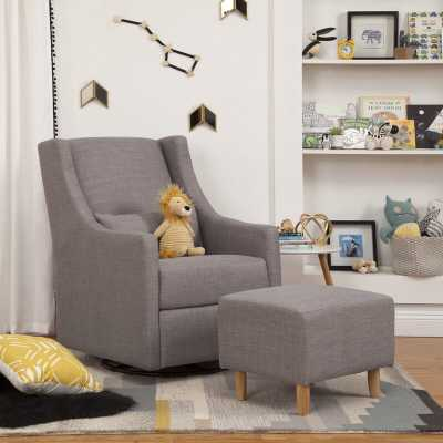Toco Swivel Glider and Ottoman Upholstery Color: Gray - Perigold