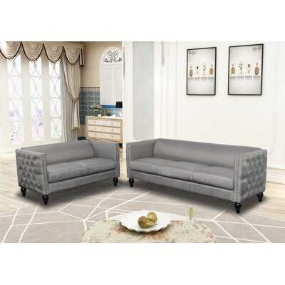 Crystal Linen 2 Pc Sofa And Loveseat Set - Wayfair