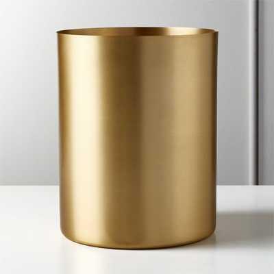 Elton Brushed Brass Waste Basket (back in stock early January) - CB2