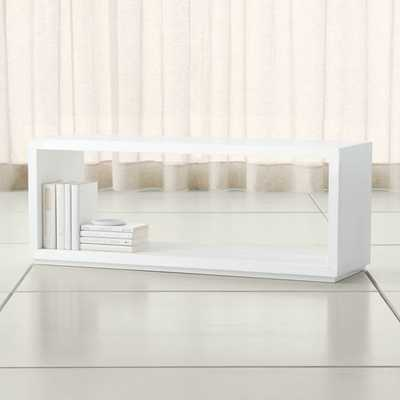 "Aspect White 47.5"" Modular Open Storage Unit - Crate and Barrel"