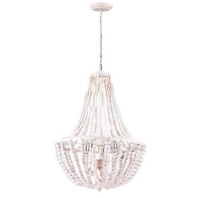 Antiona 5 - Light Candle Style Empire Chandelier with Beaded Accents - Wayfair