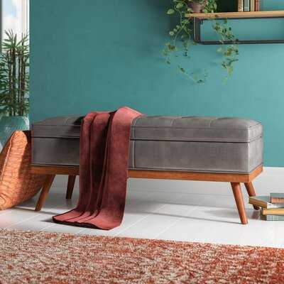 Ronquillo Faux Leather Storage Bench - Wayfair