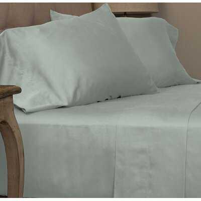 Dimmick Cotton Sateen Sea Glass Pillowcase Standard Set - Wayfair