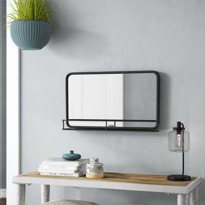 Maloney Accent Mirror With Shelves - Wayfair