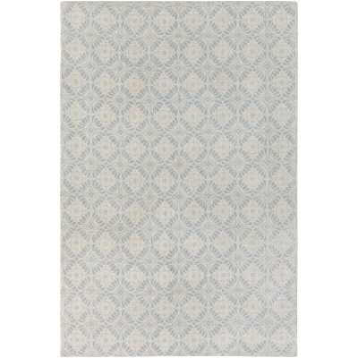 Elle Decor D'Orsay Hand-Loomed Wool Gray Area Rug Rug Size: 2' x 3' - Perigold
