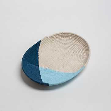 Large Oval Jewelry Tray, Blue - West Elm