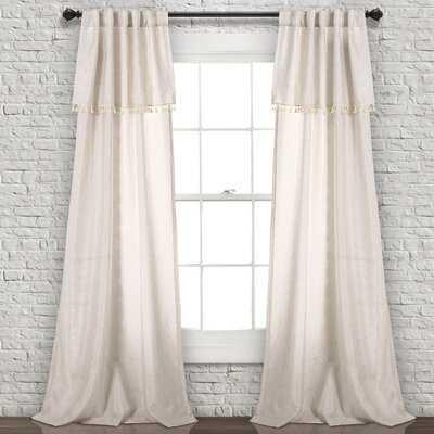 Kulpmont Solid Semi-Sheer Rod Pocket Curtain Panels - Birch Lane