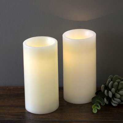 LED Unscented Pillar Candle Set - Birch Lane