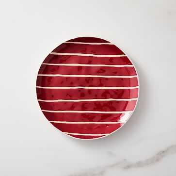 Wax Resist Salad Plate, So Red - West Elm