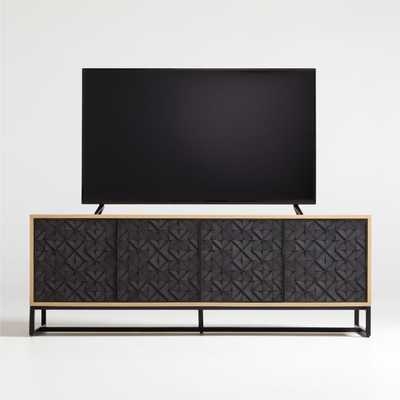 """Renard 68"""" Carved Media Console - Crate and Barrel"""