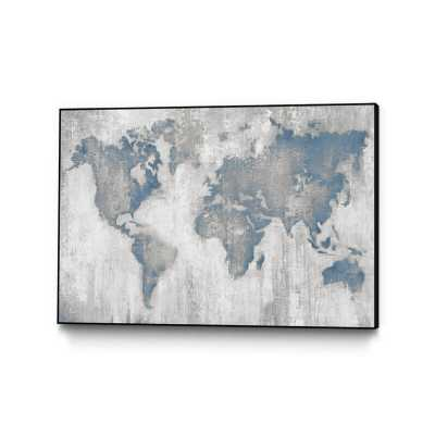 "'Map of the World' Framed Print Size: 24"" H x 36"" W - Perigold"