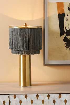 Oahu Fringe Table Lamp By Anthropologie in Grey - Anthropologie