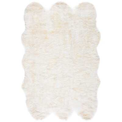 Malone Handmade Sheepskin White Rug - Wayfair