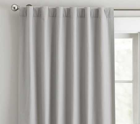 Classic Canvas Blackout Panel, 84 Inches, Gray, Set of 2 - Pottery Barn Kids