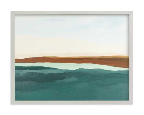 Fall Abstract Seascape Art Print - Minted