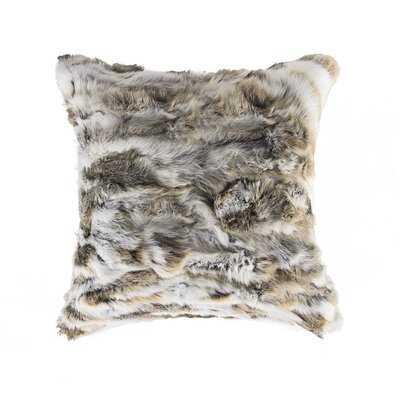Embry Faux Fur Throw Pillow - Wayfair