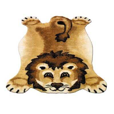 SanderSon Machine-Knotted Lion Rug - Wayfair