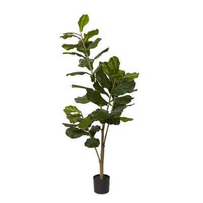 "60"" Artificial Fiddle Leaf Fig Tree - Wayfair"