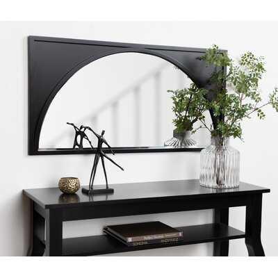 Aura Modern Wood Wall Panel Arch Beveled Accent Mirror - AllModern