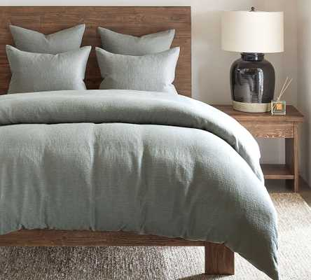 Blue Willow Linen/Cotton Twill Duvet Cover, King/Cal. King - Pottery Barn