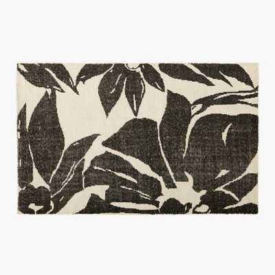 Loren Handknotted Black and White Floral Rug 8'x10' - CB2