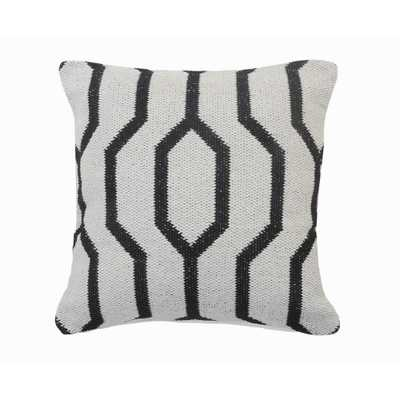 LR Home Vibe Black / White Geometric Cozy Poly-fill 20 in. x 20 in. Throw Pillow - Home Depot