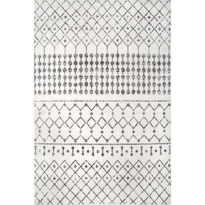 nuLOOM Zola Modern Trellis Gray 6 ft. 7 in. x 9 ft. Area Rug - Home Depot