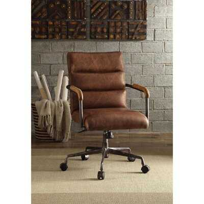 Markenfield Pneumatic Lift Genuine Leather Executive Chair - Wayfair