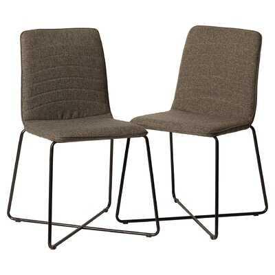 Inglesbatch Upholstered Side Chair in Gray (Set of 2) - Wayfair