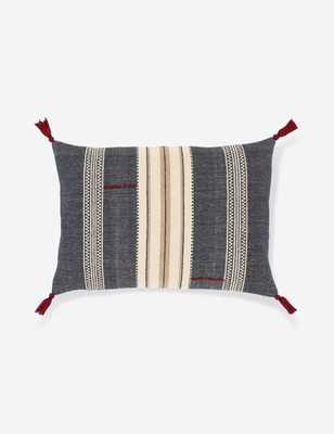 "Mandisa Lumbar Pillow, Denim Multi 16"" x 24"", Poly Fill - Lulu and Georgia"