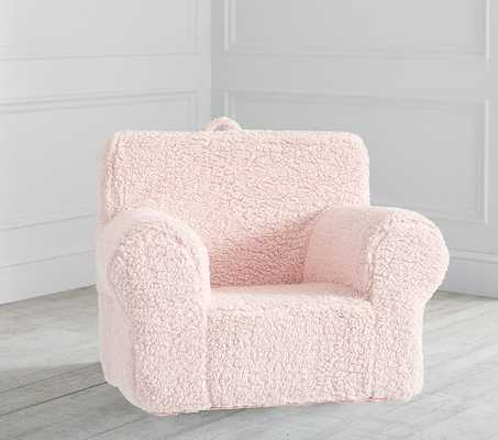 Blush Sherpa Anywhere Chair(R) Slipcover Only - Pottery Barn Kids
