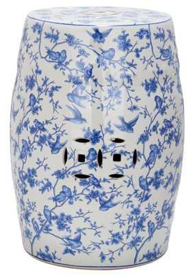 Blue Birds Garden Stool - Blue Patten - Arlo Home - Arlo Home