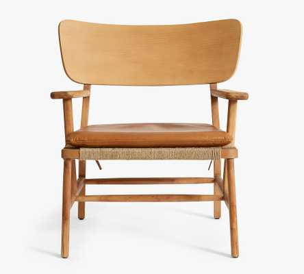 Danish Leather Chair, Nubuck Fawn - Pottery Barn