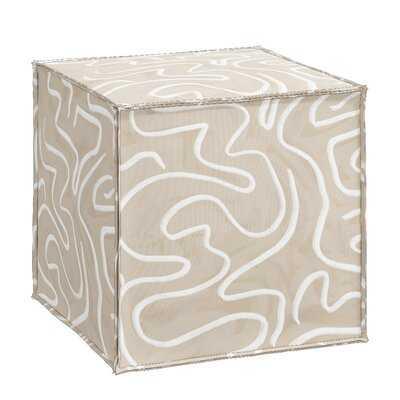 "Lucrezia 19"" Square Abstract Cube Ottoman - AllModern"