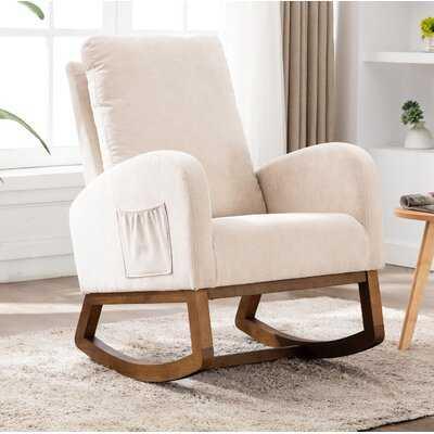Living Room Comfortable Rocking Chair Living Room Chair Dark Gray - Wayfair