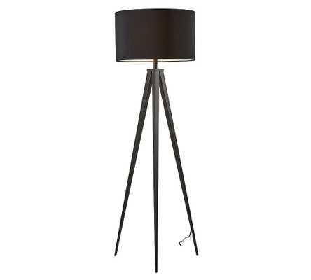 Ibra Floor Lamp, Black - Pottery Barn