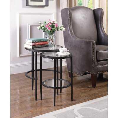 Adele Glass Top Nesting Tables - Wayfair