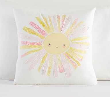 "Smiling Sun Pillow, Multi, 16x16"" - Pottery Barn Kids"