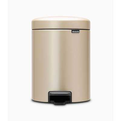 Brabantia Newicon Step Trash Can, 1.3 Gallon, Champagne - West Elm