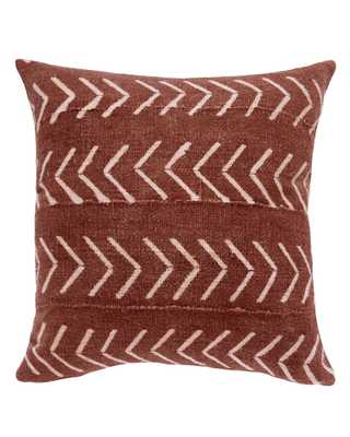 east west birdseye mud cloth pillow in rust MADE TO ORDER - PillowPia